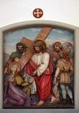 Veronica torkar framsidan av Jesus, 6th stationer av korset Royaltyfria Foton