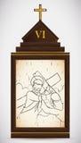 Veronica Wipes framsidan av Jesus, vektorillustration Royaltyfri Foto