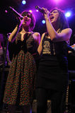 The Veronicas performing live. The Veronicas from Australia performing live at the House of Blues in Hollywood in June 2008 Stock Image