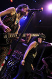 The Veronicas performing live. Royalty Free Stock Images