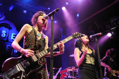 The Veronicas performing live. Stock Image