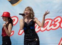 Veronika Dirakova singing Royalty Free Stock Image
