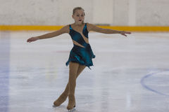 Veronika Ostapenko from Ukraine performs Silver Class III Girls Free Skating Program Stock Photography