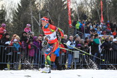 Veronika Vitkova - biathlon Stock Photo
