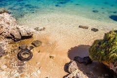 Verontreinigd strand Royalty-vrije Stock Afbeeldingen