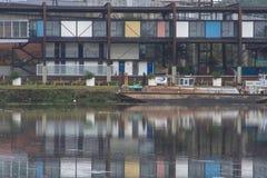 Verontreiniging van Pinheiros-rivier in Sao Paulo Royalty-vrije Stock Afbeelding