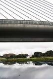 Verontreiniging van Pinheiros-rivier in Sao Paulo Stock Afbeeldingen