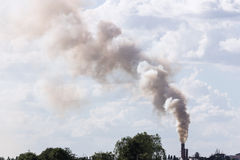 Verontreiniging van rook en stoom Stock Fotografie