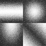 Verontrust, vuil stof, grunge geplaatste lawaai vectortexturen vector illustratie
