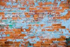 Verontruste bakstenen muur Royalty-vrije Stock Afbeeldingen