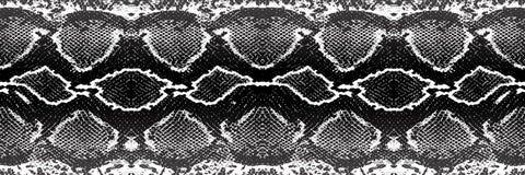 Verontruste bekledingstextuur van krokodil of slanghuidleer, grunge vectorachtergrond vector illustratie