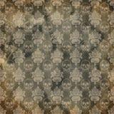 Verontruste Collageachtergrond - de Textuur van de Damastschedel - Macaber - Goth - Halloween - Donker Humeur vector illustratie