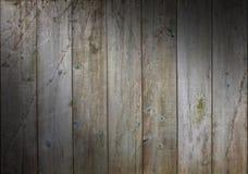 Verontruste houten achtergrond met doorstane raad Royalty-vrije Stock Foto's