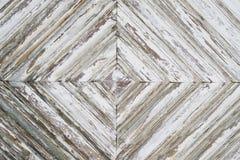 Verontruste houten textuur als achtergrond met witte verf Royalty-vrije Stock Foto