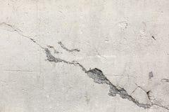 Verontruste Oude Cementmuur met de Textuur van de Barstschade royalty-vrije stock afbeelding