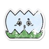 verontruste sticker van een leuk beeldverhaalwater lilly stock illustratie