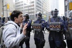 Verontschuldigende protestor. Stock Afbeeldingen