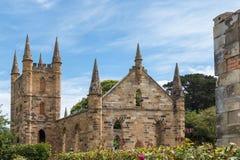 Veroordeel kerk, Port Arthur, Tasmanige royalty-vrije stock afbeeldingen