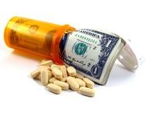 Verordnung-Medikation-Kosten Stockbild