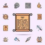 Verordnung, Papier, Pergament, Rolle, Stiftikone Universalsatz Geschichte f?r Websiteentwurf und Entwicklung, Appentwicklung stock abbildung