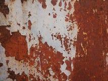 Verouderd en rotte metaaloppervlakte in bruin en grijs Stock Fotografie