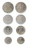Verouderde Bulgaarse muntstukken Royalty-vrije Stock Afbeeldingen