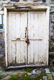 Verouderde deur in Turkije Stock Foto's
