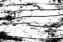 Verouderde gebarsten houten textuur De zwart-wit textuur van de timmerhoutraad stock illustratie