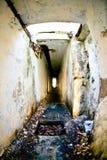 Verouderde militaire catacomben Royalty-vrije Stock Afbeelding