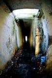 Verouderde militaire catacomben Royalty-vrije Stock Fotografie