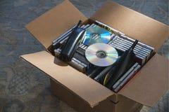 Verouderde technologie in doos Royalty-vrije Stock Fotografie