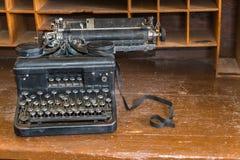 Verouderde Technologie Handschrijfmachine stock afbeelding
