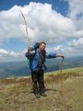 Veroveraars van berghoogten Stock Fotografie