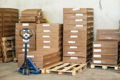 Verpackte braune Kästen Lizenzfreies Stockfoto