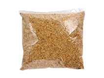 Verpacktes Lebensmittel für Vogel Lizenzfreies Stockfoto