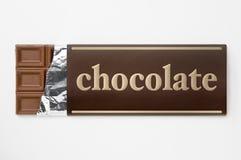 Verpackung der Aluminiumfolie und des Papiers der Schokolade Lizenzfreies Stockfoto