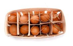 Verpackung der Eier Stockfoto