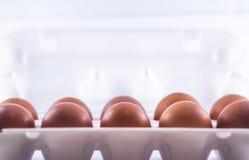 Verpackung der Eier stockfotos