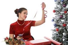 Verpackung der Feiertags-Geschenke Lizenzfreie Stockbilder