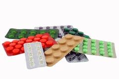 Verpackung der verschiedenen Pillen lizenzfreie stockfotografie