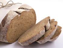 Verpackung des dunklen Brotes Stockbild