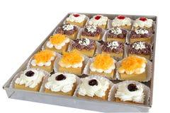 Verpackung des kleinen Kuchens, Lieferungskasten lizenzfreies stockbild