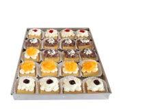 Verpackung des kleinen Kuchens, Lieferungskasten lizenzfreie stockfotos