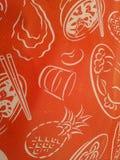 Verpackung orange Tapete und backgruond Stockbilder