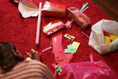 Verpackungs-Weihnachtsgeschenke Stockfotografie
