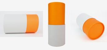 Verpackungs-Zylinder stockbilder