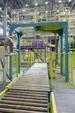 Verpackungsbereich einer chemischen Fabrik Stockfoto