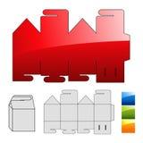 Verpackungspuzzlespielschablone für Kasten vektor abbildung