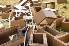 Verpakkend afval Stock Foto's
