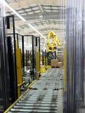 Verpakkende lijn van deegwaren. Stock Foto
